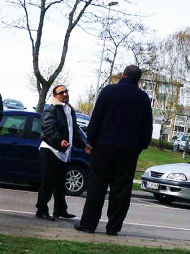Gemi Levakovic da han fredag var på Motalavej i Korsør. Privat foto.