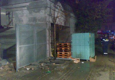 Påsat brand ved bagindgangen til en butik på Allesgade i København N