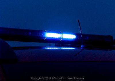 politi, brand, redning, blå blink, kæresteopgør