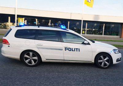 Politibil med udrykning i Korsør - Arkiv.