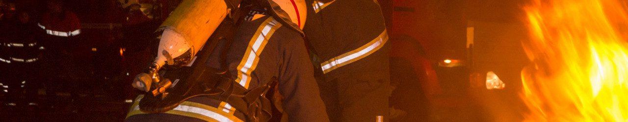 Ungdomsbrandvæsnet på samarbejdsøvelse i Benløse.