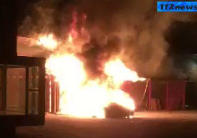 Bilbrand var ved at brede sig til Mørkøv Hallen.