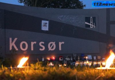 Mindehøjtidelighed for Emilie Meng ved Korsør Station.