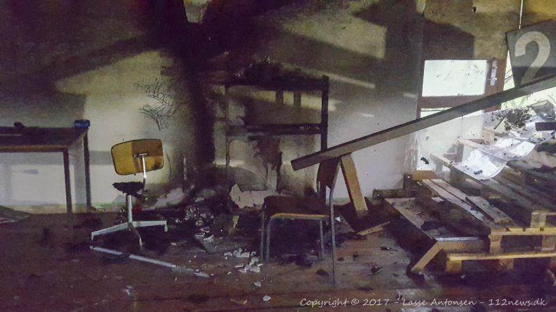 Påsat brand i forladt klubhus på Ørnumvej i Korsør.