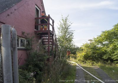 Endnu en påsat brand i den forladte fodboldklub på Ørnumvej i Korsør.