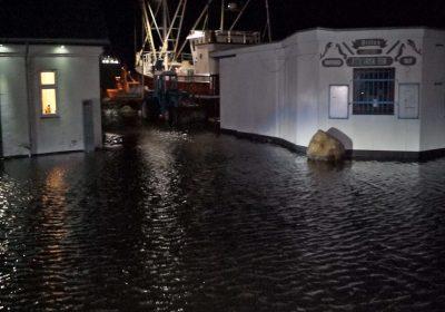 Stormflod, Korsør, Oversvømmelse