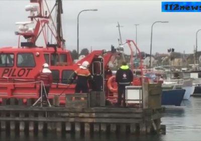 Brand i maskinrummet på lodsbåden Pilot i Korsør.