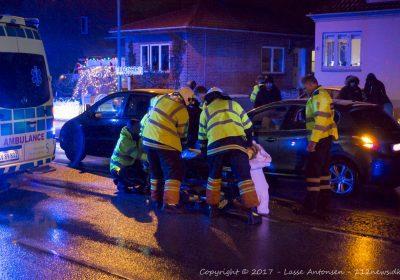 Færdselsuheld spærrede Tårnborgvej i Korsør