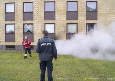 En person anholdt efter kælderbrand i Fasanhaven i Korsør.