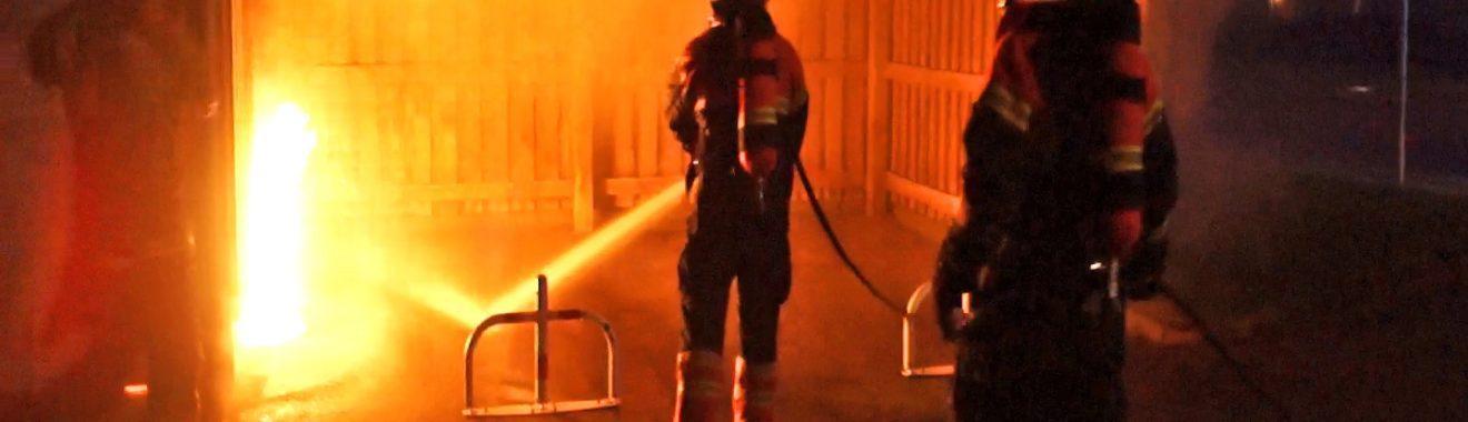 Kortslutning formentlig årsag til brand i garage på Motalavej i Korsør.