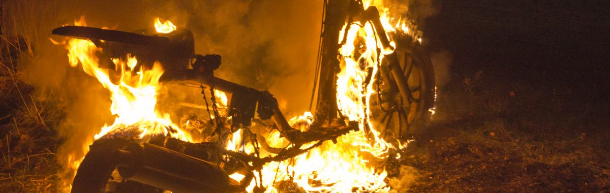 Scooter sat i brand på Motalavej i Korsør.