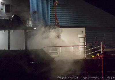 Damp fra skib udløste stor udrykning.