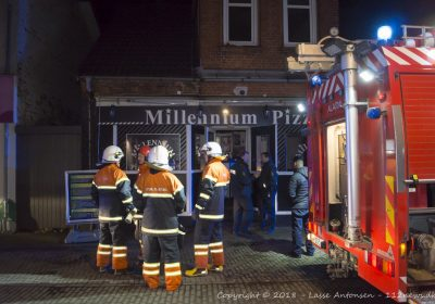 Brand hos Millennium Pizza i Korsør