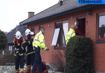 brand i køkken på Humlevænget i Korsør