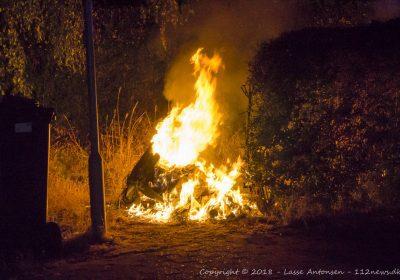 Brand i container på Tårnborgvej i Korsør