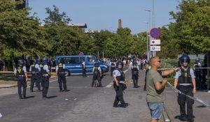 Stram Kurs demo i Slagelse endte i gadekamp