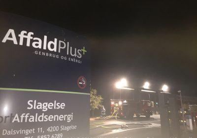 Brand hos Affald Plus Energiforbrænding i Slagelse