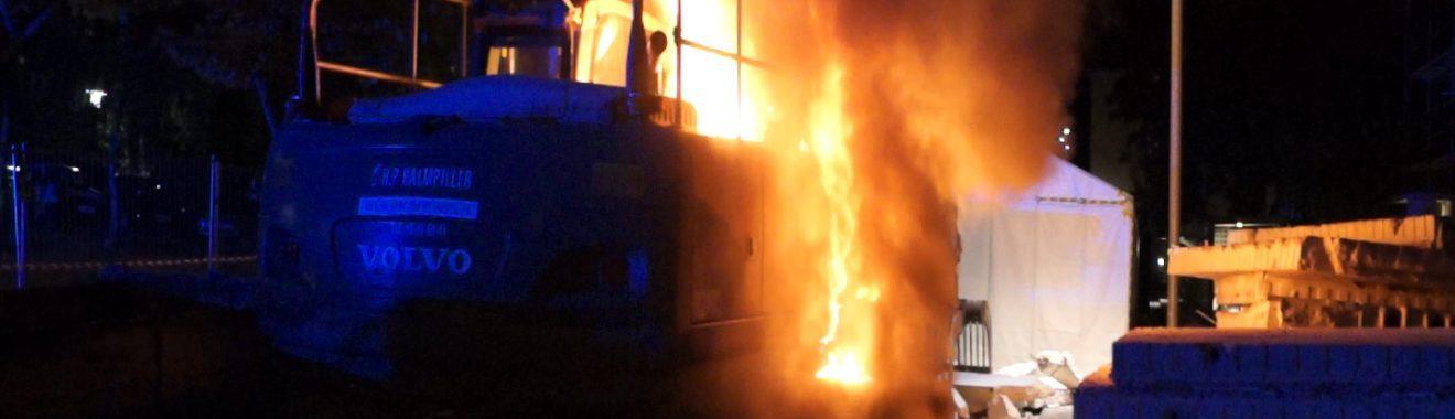 Brand i Gravemaskine på Motalavej i Korsør