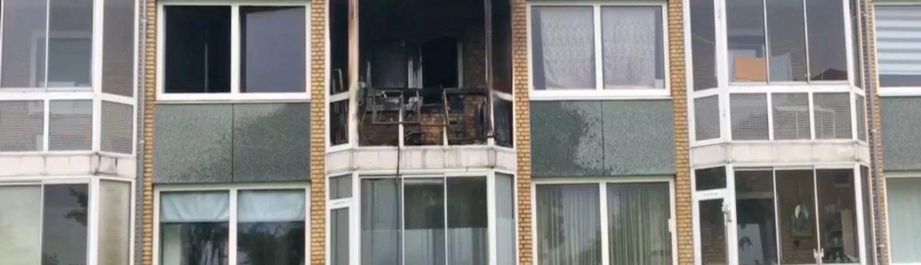 brand på altan på Motalavej i Korsør