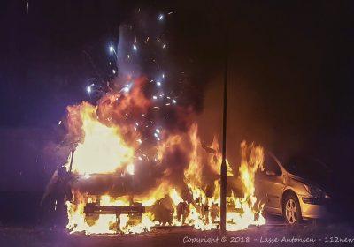 Endnu en påsat bilbrand ved Plejecenter Solbakken i Korsør