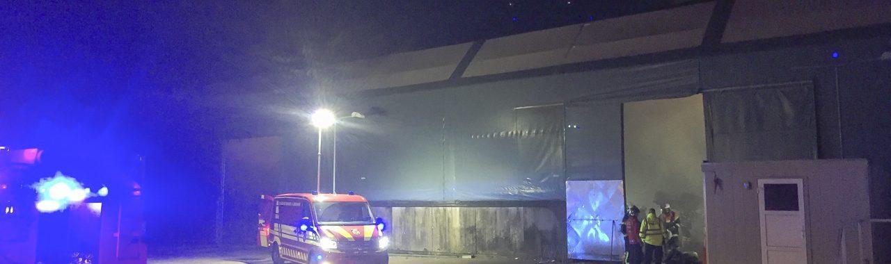 Brand i industribygning ved Vemmelev udløste storalarm.