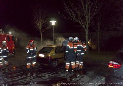 Påsat bilbrand ved ældreboligerne på Motalavej i Korsør