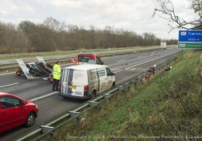 Falckredder dræbt i voldsom ulykke på vestmotorvejen