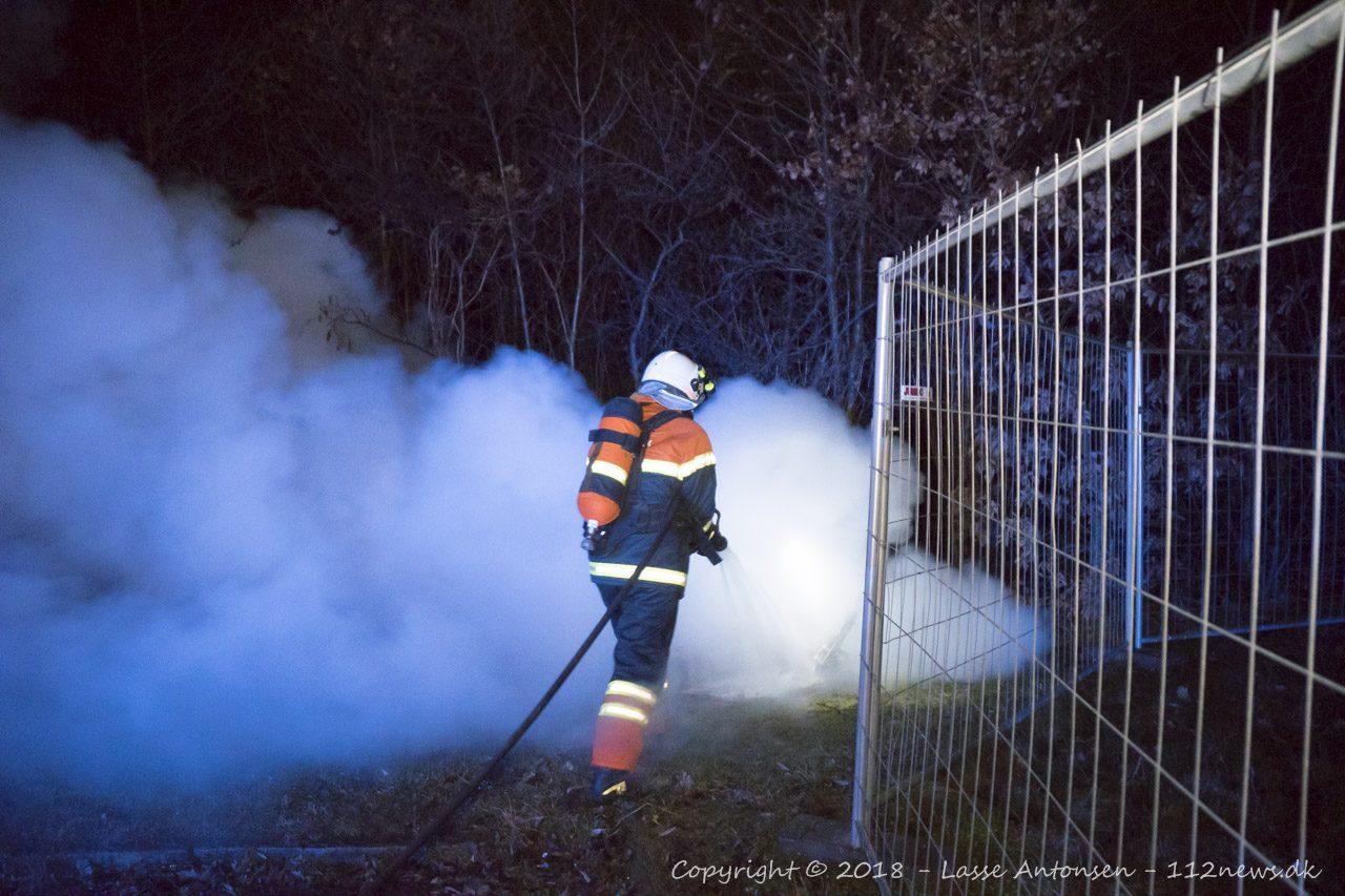 Brandslukning på Motalavej nytåret 2018-2019
