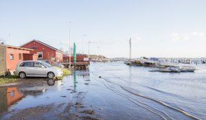 Stormflod og forhøjet vandstand Korsør