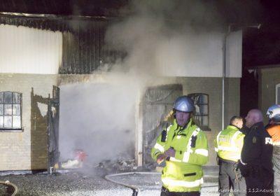 Garage udbrændt på landejendom ved Vemmelev