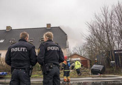 Hus raseret af kraftig brand i Dalmose