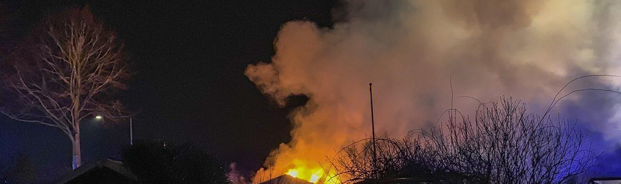 Brand i kolonihavehus på Daliavej i Slagelse.