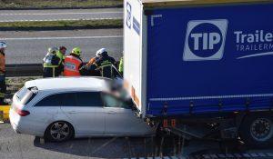 Alvorlig dødsulykke på vestmotorvejen ved Slagelse