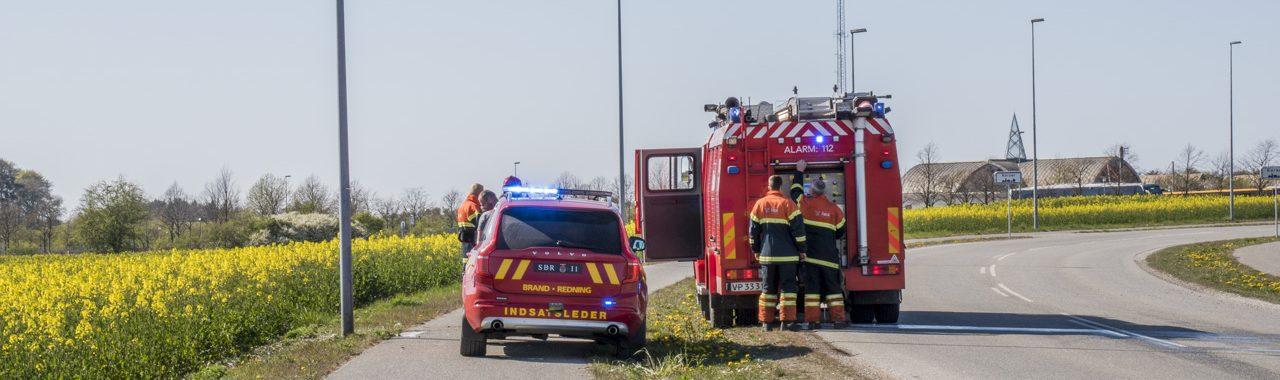 Mindre naturbrand ved Korsør Station