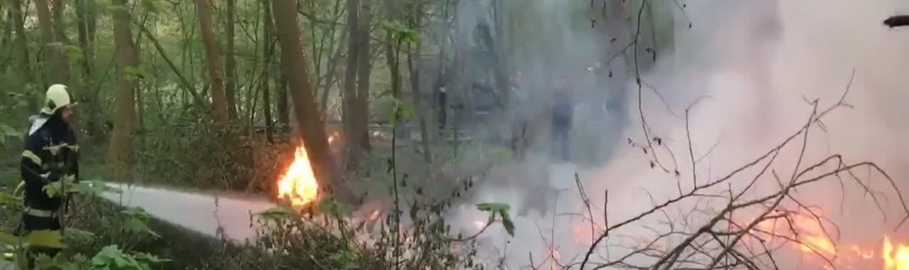 Skovbrand ved Thorvaldsensvej i Slagelse