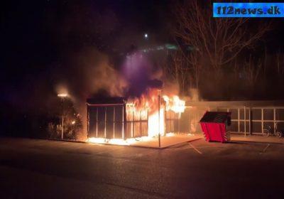 Flere mistænkelige brande i Slagelse torsdag aften.