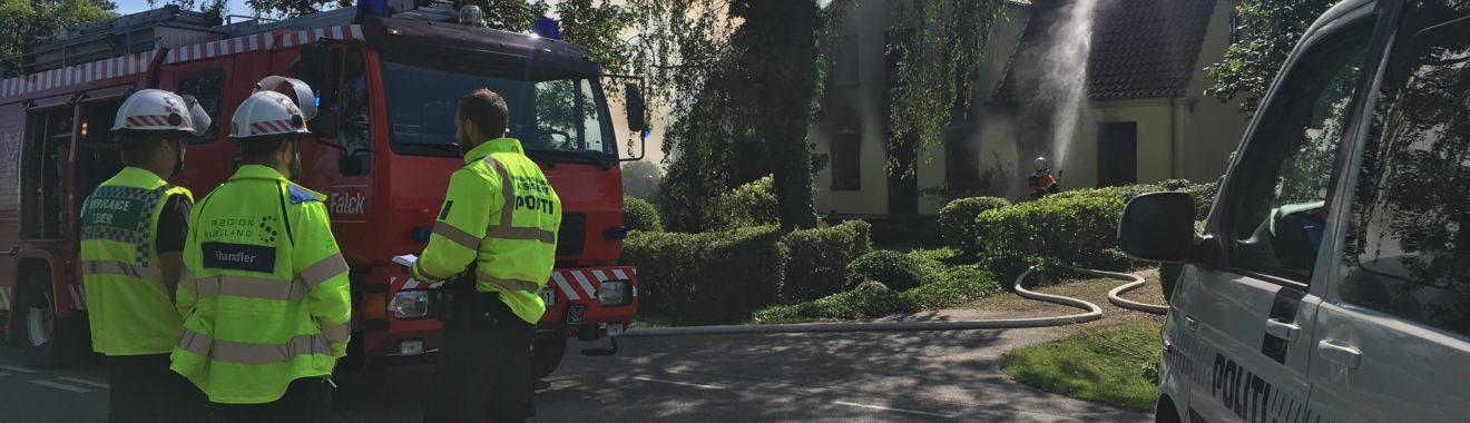 Person fundet død ved mystisk brand i landejendom. Drabene fra Vemmelev og Ruds Vedby.