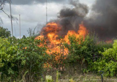Voldsom brand i kolonihavehus på Stenstrædet i Korsør