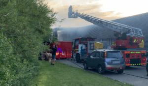 Storbrand afværget - Brand i industribygning i Slagelse