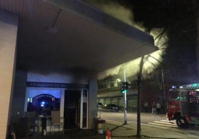 Brand hos Dilans Pizzaria i Korsør
