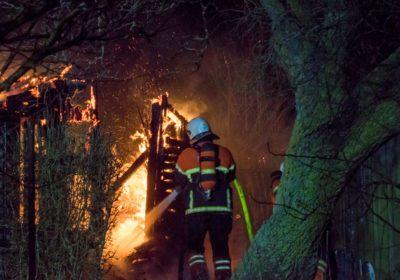 brand i kolonihavehus på Jakobstien i Korsør