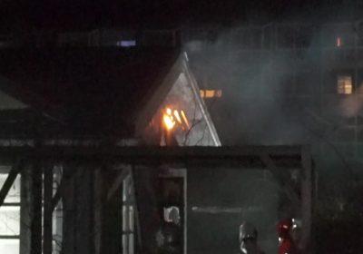 Brand i kolonihavehus i Korsør