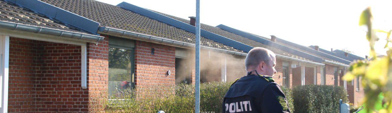 Brand i rækkehus på Østerås i Slagelse