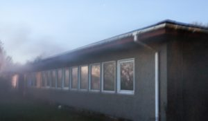 storalarm til brand i nedlagt skole på Sverigesvej i Slagelse