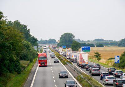 Mindre færdselsuheld resulterede i forlænget rejsetid på Vestmotorvejen.