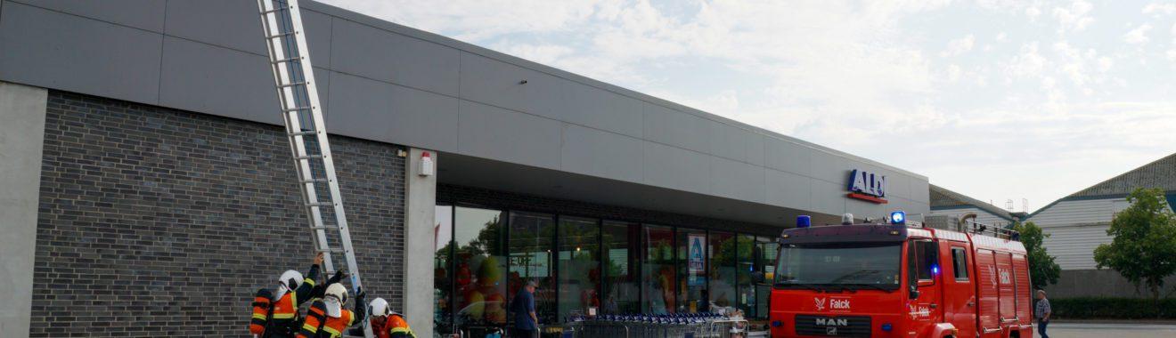 Røgudvikling i Aldi supermarked på Tårnborgvej i Korsør