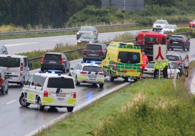 Færdselsuheld på Vestmotorvejen ved Tjæreby
