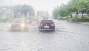 Voldsom skybrud i Kalundborg skabte oversvømmelser
