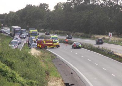 Færdselsuheld på vestmotorvejen ved Vemmelev