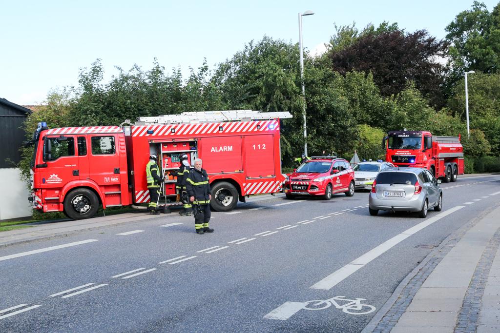 Mindre færdselsuheld på Ringstedvej ved Kvanløse.
